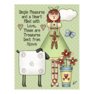 Simple Pleasures Postcard