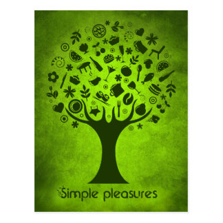 Simple Pleasures Tree Postcard
