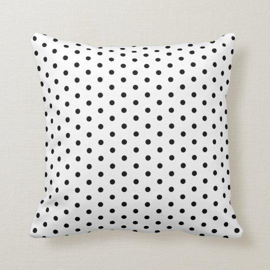 Simple Polka Dot Black and White Pattern Cushion