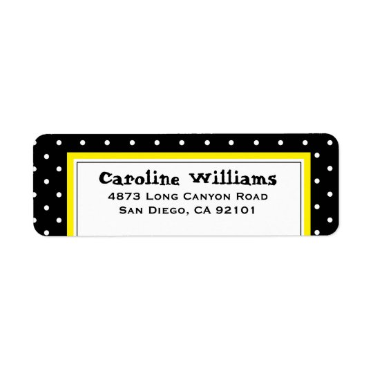 Simple Polka Dot Return Address Label