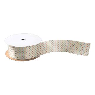 Simple polka dot ribbon satin ribbon