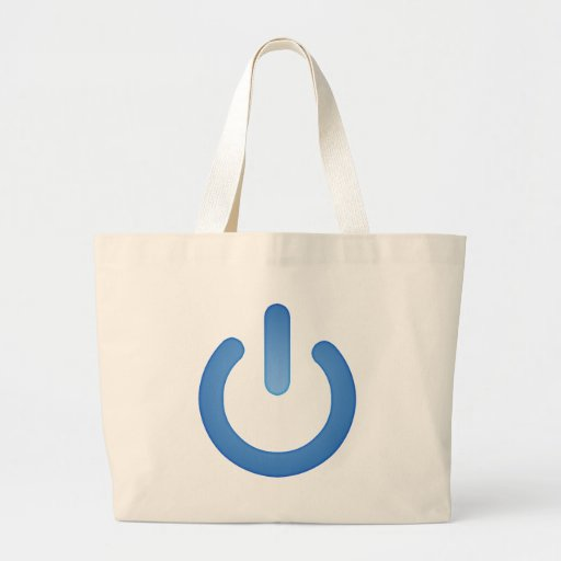 Simple Power Button Tote Bags