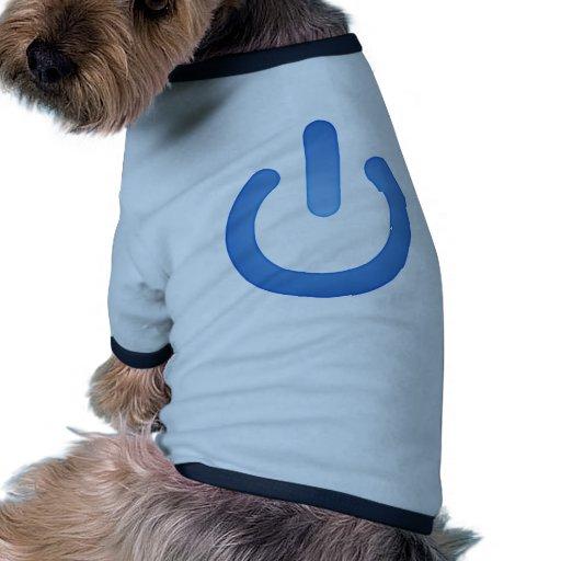 Simple Power Button Pet Shirt