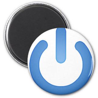 Simple Power Button Fridge Magnets