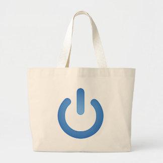 Simple Power Button Jumbo Tote Bag
