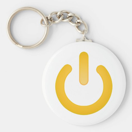 Simple Power Button Key Chains