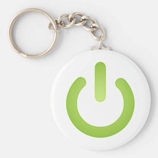 Simple Power Button Key Chain