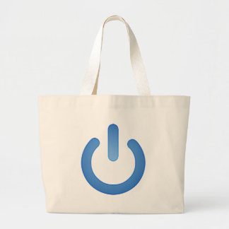 Simple Power Button Large Tote Bag