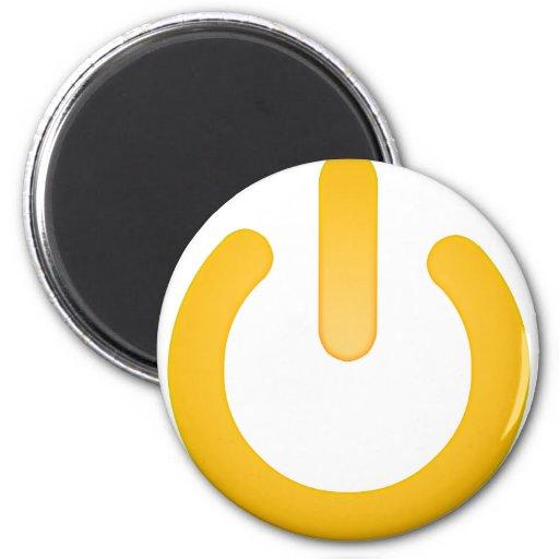 Simple Power Button Fridge Magnet