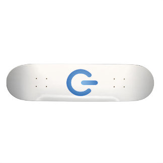 Simple Power Button Skate Boards
