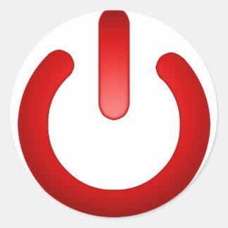 Simple Power Button Round Sticker