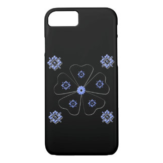 Simple Pretty Black and Blue Iphone Case