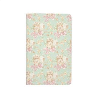 Simple Pretty Rose Print Floral Pocketbook Journal