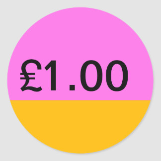 Simple Price Tag Sticker - Pink/Orange 2