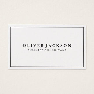 Simple Professional Black Border Minimalist Business Card