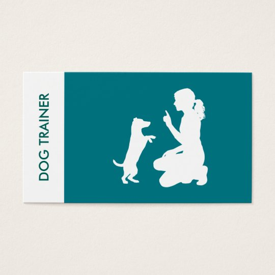 Simple Professional Dog Trainer Business Card
