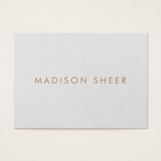 Simple Professional Grey, Modern Minimalistic Business Card