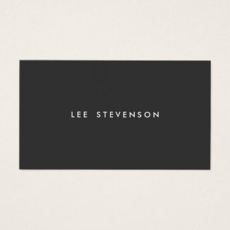 Simple Professional Modern Black Business Card