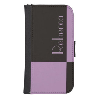 Simple Purple Black Color Block Custom Name