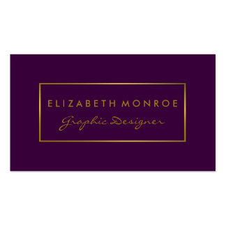 Simple Purple & Gold Foil Effect Pack Of Standard Business Cards