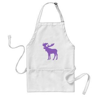 Simple purple moose symbol standard apron