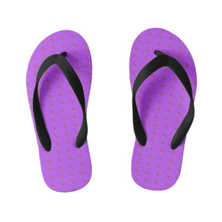 Simple Purple Music Flip Flops