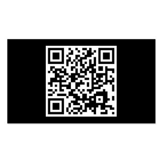 simple QR code Pack Of Standard Business Cards