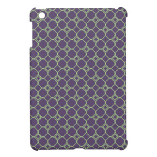Simple Quatrefoil Pattern in Purple and Lime Green Cover For The iPad Mini