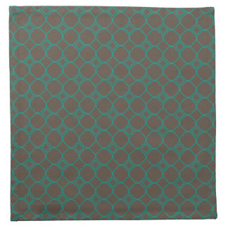 Simple Quatrefoil Pattern in Teal and Taupe Napkin