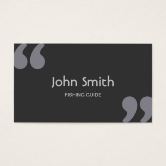 Simple Quotation Marks Fishing Guide Business Card
