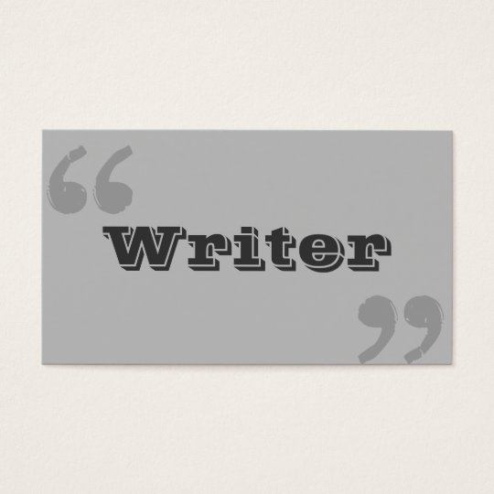 Simple Quote Marks Writer/Author Business Card