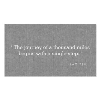 Simple Quote on Gray Linen Authors, Writers Pack Of Standard Business Cards