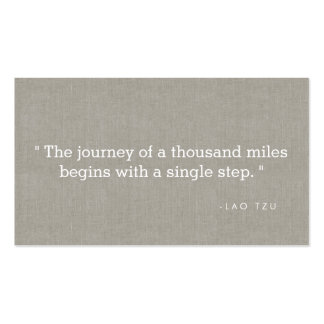 Simple Quote on Linen Authors, Writers Pack Of Standard Business Cards