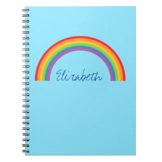 Simple Rainbow Personalized Notebook