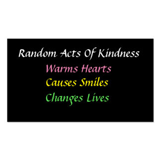 Simple Random Acts of Kindness Card Business Card Templates