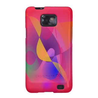 Simple Red Abstract Painting Galaxy S2 Case