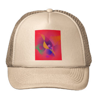 Simple Red Abstract Painting Trucker Hats