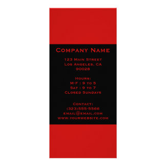 simple red black rack card