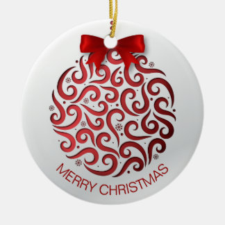 Simple Red Christmas Ornament | Ornament