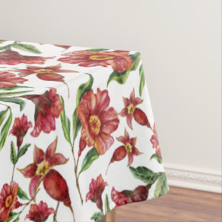 Simple Red Flowers Tablecloth