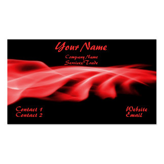 Simple Red Graphic Business Card