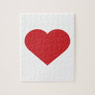 Simple Red Heart  Modern Contemporary Puzzles