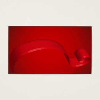 Simple Red Ribbon Gift Cards