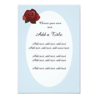Simple Red Rose Vintage Style Wedding Invitation