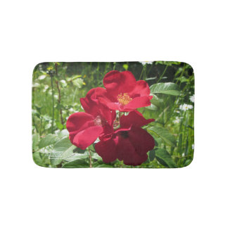 Simple Red Roses bath mat