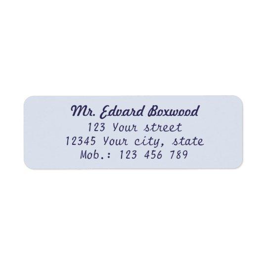 Simple Return Address Blue