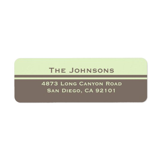 Simple Return Address Label