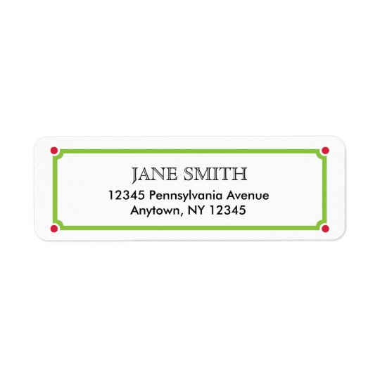 Simple Return Address Label for Christmas