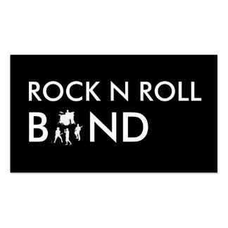 Simple Rock Band Business Cards