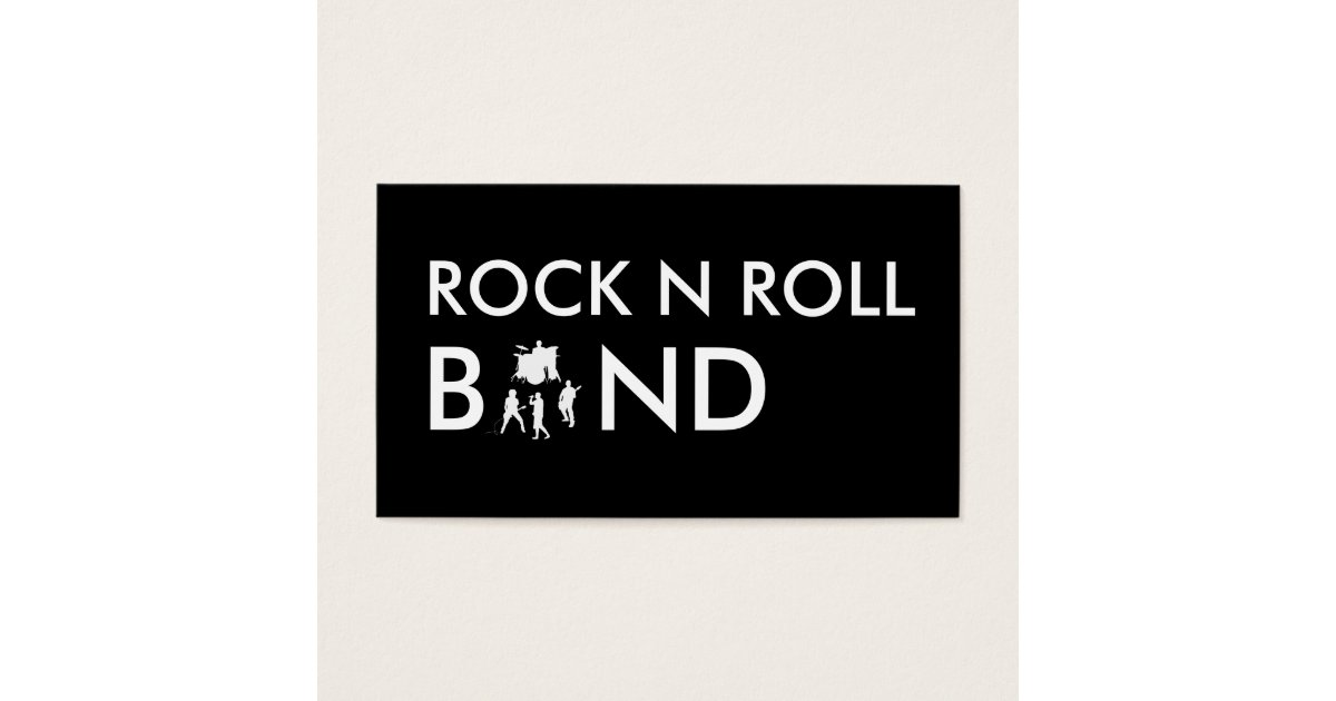 Simple Rock Band Business Cards | Zazzle.co.uk